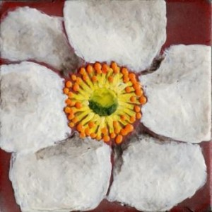 Anemone Encaustic Painting