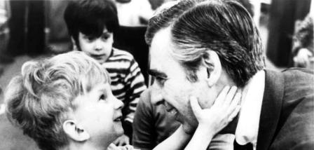 Mr. Rogers and child