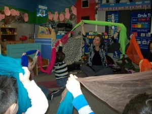 Play time with preschoolers