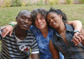 In Rwanda with friends Mark and Pascaline