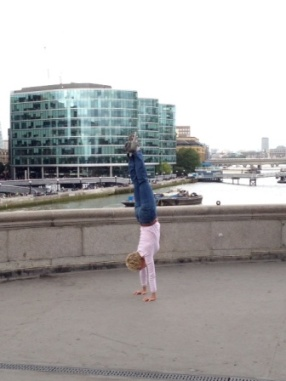 Tower Bridge Handstand in London