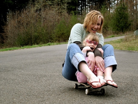 Skateboarding Mom