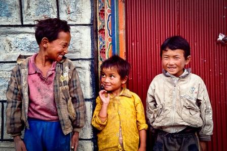 Smiling Tibetan Boys
