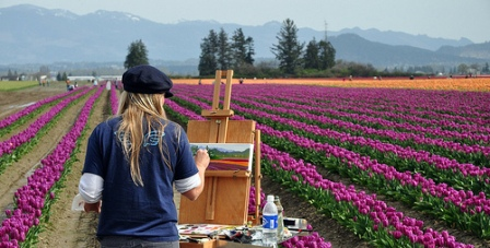 Painting Tulips Photo by Jim Culp